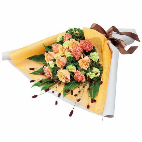 オレンジバラのエレガントな花束(512239)